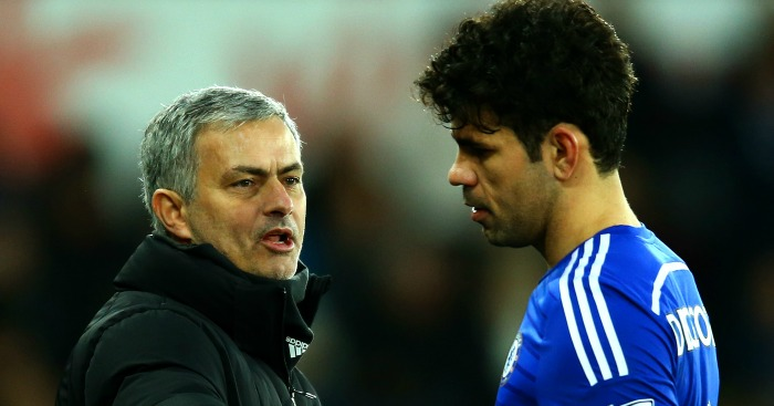 Diego Costa: Handed words of encouragement from Jose Mourinho