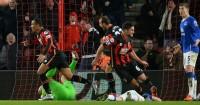Junior Stanislas: Celebrates one of his dramatic late goals against Everton