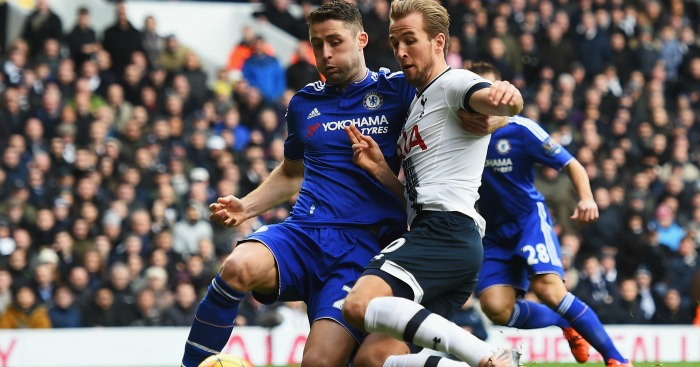 Harry Kane: Challenged by Gary Cahill