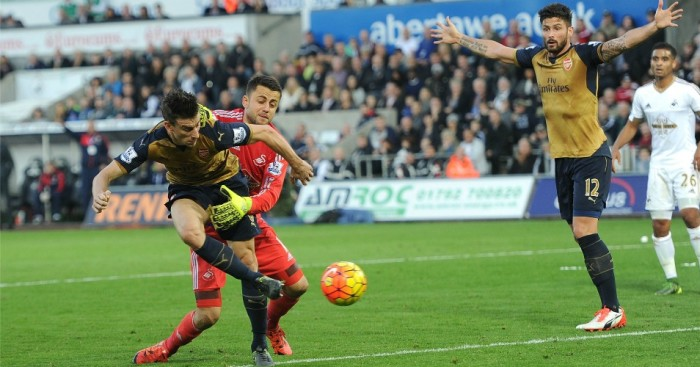 Laurent Koscielny: Scores past Lukasz Fabianski in Arsenal win