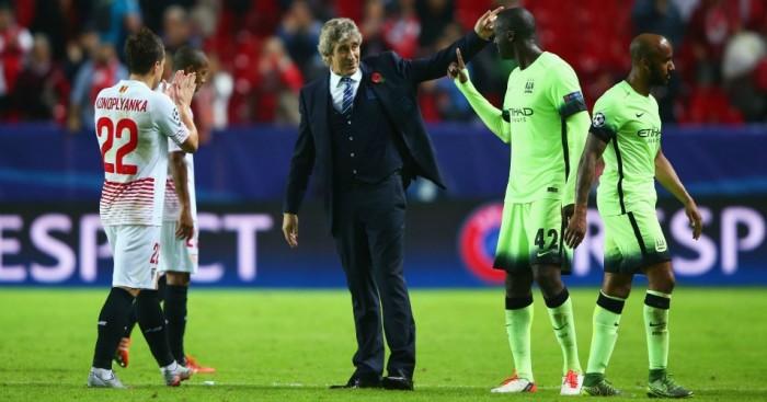Manuel Pellegrini: Congratulates Manchester City players after win
