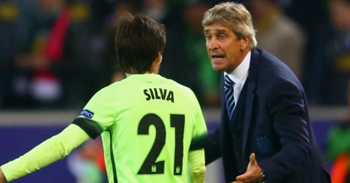 Manuel Pellegrini David Silva Manchester City TEAMtalk