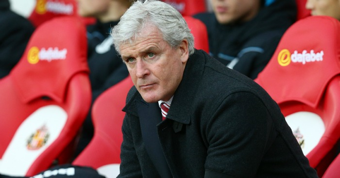 Mark Hughes: Stoke boss pondering his weekend line-up