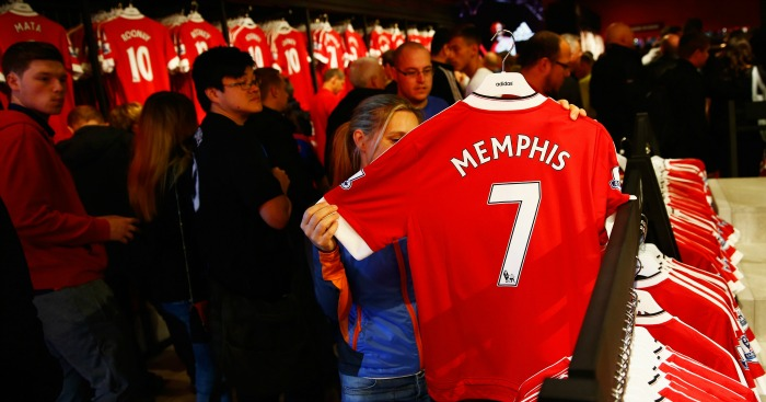 Memphis Depay shirt: Proving popular among Manchester United fans