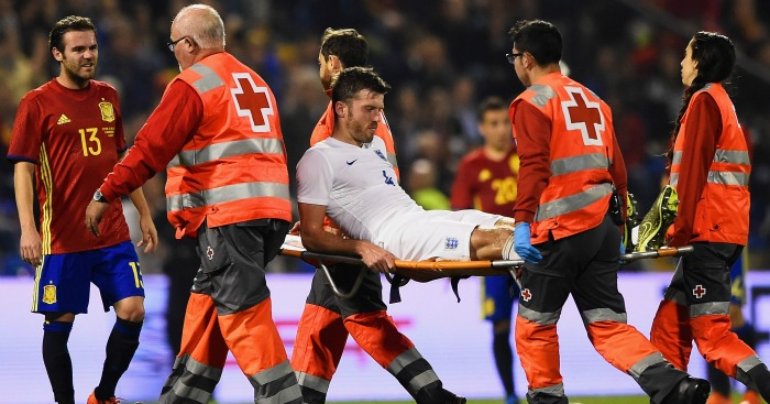 Michael Carrick: Stretchered off in the final minute of defeat