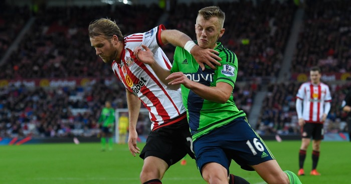 Ola Toivonen: Battles for the ball with James Ward-Prowse