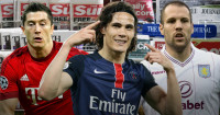 Robert Lewandowski, Edinson Cavani and Ron Vlaar in the news