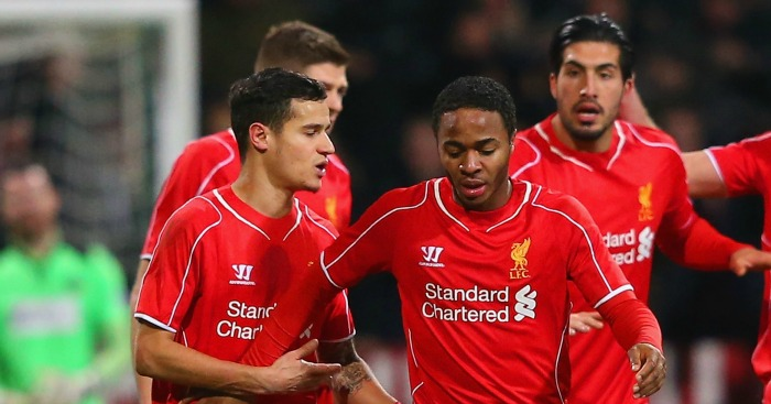 Philippe Coutinho Raheem Sterling Liverpool celebration