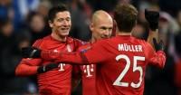 Robert Lewandowski: On target in Bayern Munich's win over Olympiacos