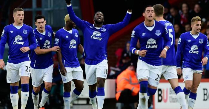 Romelu Lukaku: Celebrates Everton's second against Bournemouth