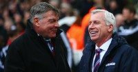 Alan Pardew (right): Rates Sam Allardyce highly