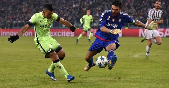 Sergio Aguero Juventus v Manchester City