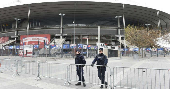 Stade de France: Police outside national stadium