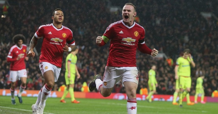 Wayne Rooney: Celebrates scoring for Manchester United against CSKA Moscow