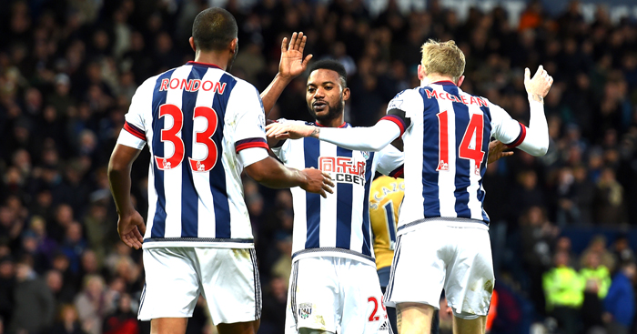 West Brom: Celebrate their win over Arsenal