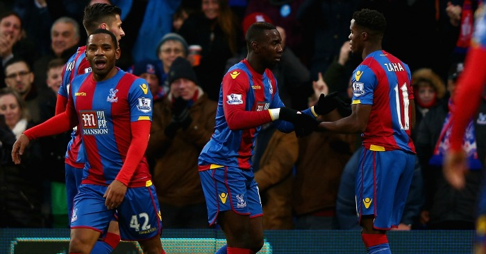 Yannick Bolasie: Celebrates Palace's second against Newcastle