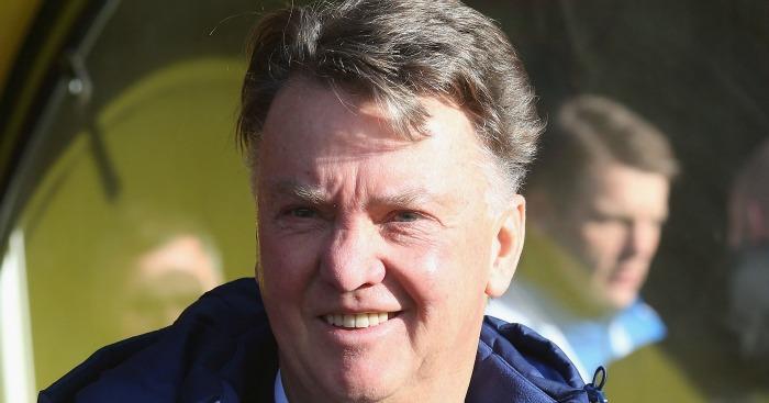 Louis van Gaal: Emerged smiling...just
