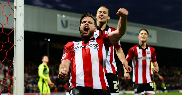 Alan Judge Brentford celebration