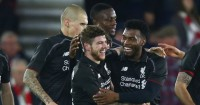 Daniel Sturridge: Celebrates with his Liverpool team-mates at St Mary's