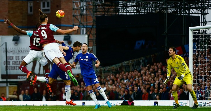 Andy Carroll: Striker headed winner against Chelsea this term