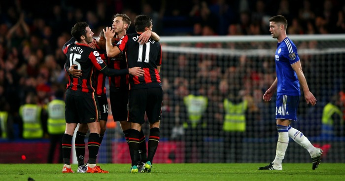 Bournemouth celebration at Chelsea