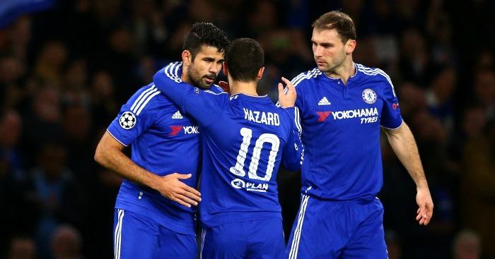 Diego Costa (l) and Eden Hazard (c): Both in contention