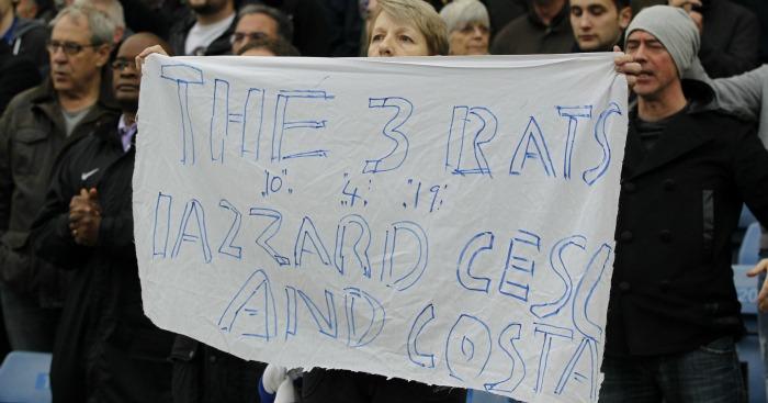 Chelsea fans' rats banner