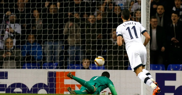 Erik Lamela: Fired in his third goal of the evening