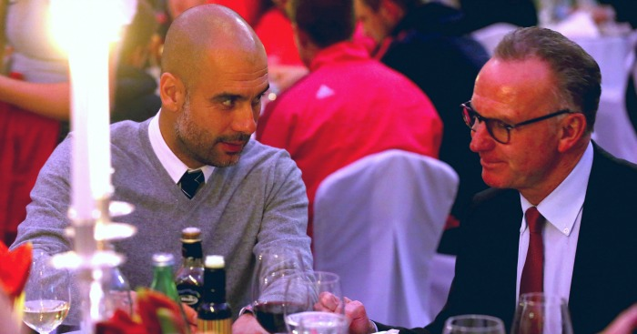Pep Guardiola: told Rummenigge he was leaving at Xmas do
