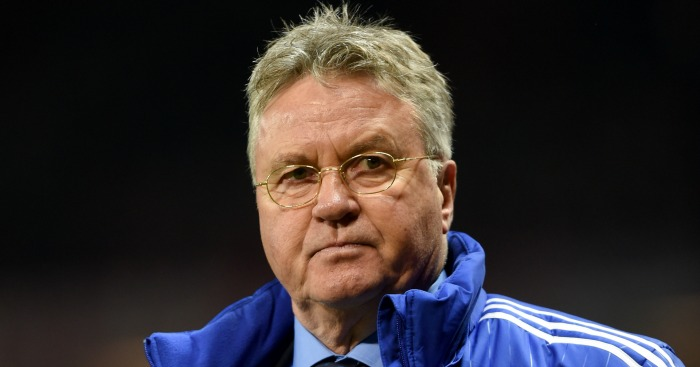 Guus Hiddink: In his second temporary stint in charge at Chelsea
