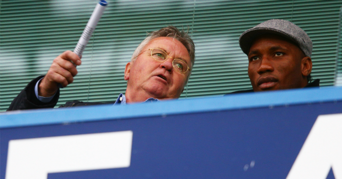Guus Hiddink: Sat next to Drogba at The Bridge
