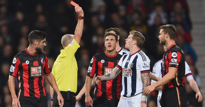 James McClean: Saw red at The Hawthorns