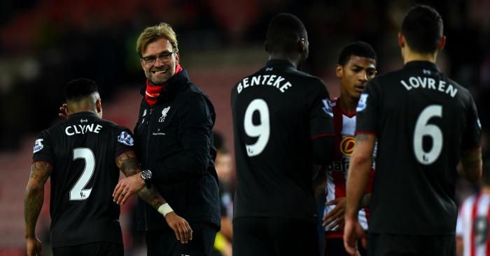 Jurgen Klopp: Praised Christian Benteke after win at Sunderland