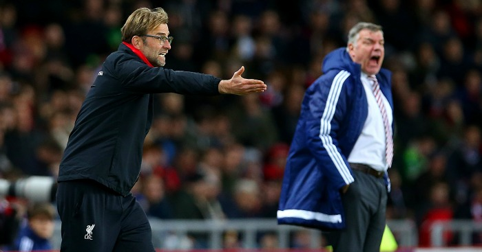 Jurgen Klopp and Sam Allardyce: Clashed after Jeremain Lens challenge