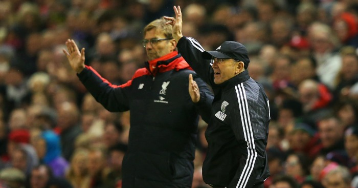 Jurgen Klopp and Tony Pulis: Did not shake hands after Liverpool's draw against West Brom