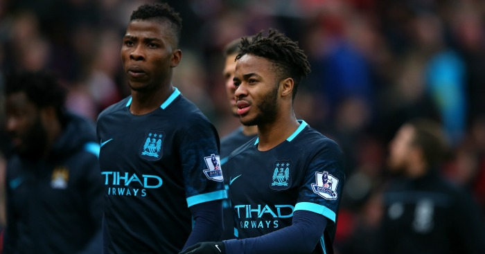 Kelechi Iheanacho and Raheem Sterling: Walk off after Manchester City's defeat at Stoke City