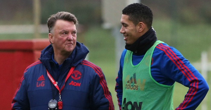 Louis van Gaal Chris Smalling