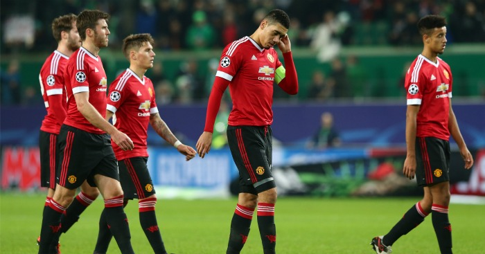 Manchester United: Look dejected after Wolfsburg defeat