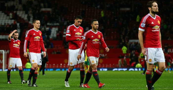 Manchester United: Beaten at home by Norwich City