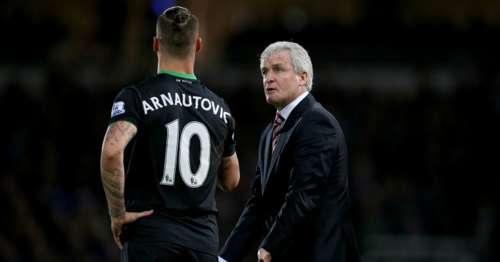 Mark Hughes: Keen to keep Marko Arnautovic at Stoke City