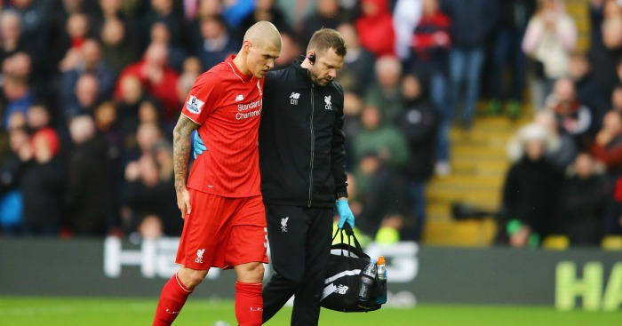 Martin Skrtel: Liverpool defender is expected to miss six weeks