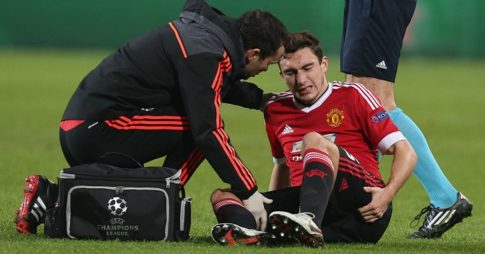 Matteo Darmian: Injured in Manchester United's Champions League defeat to Wolfsburg