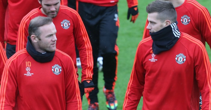 Morgan Schneiderlin Wayne Rooney Manchester United TEAMtalk
