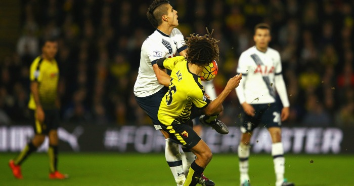 Nathan Ake red card Watford v Tottenham