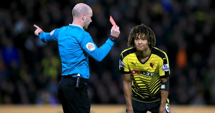 Nathan Ake red card