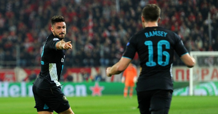 Aaron Ramsey: Set up Olivier Giroud's first goal against Olympiacos