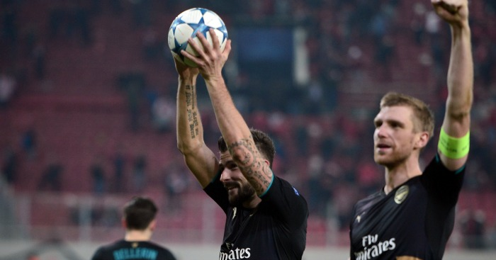 Olivier Giroud: Earned Arsenal place in last 16 of Champions League