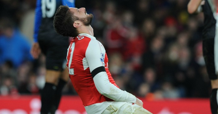 Olivier Giroud: Not worried by Arsenal goal drought