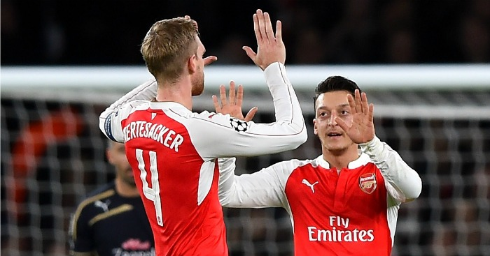Per Mertesacker and Mesut Ozil: Have a big influence at Arsenal
