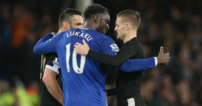 Romelu Lukaku: Congratulates Jamie Vardy at full-time